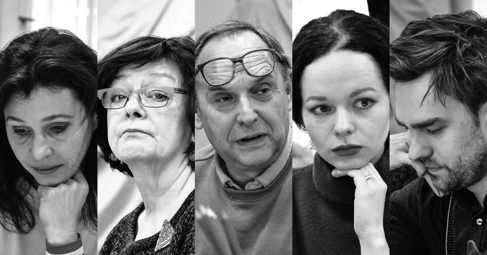Peter Shaffer: EQUUS. Lada Jelínková, Lenka Skopalová, Pavel Kikinčuk, Anna Kameníková, Ondřej Rychlý