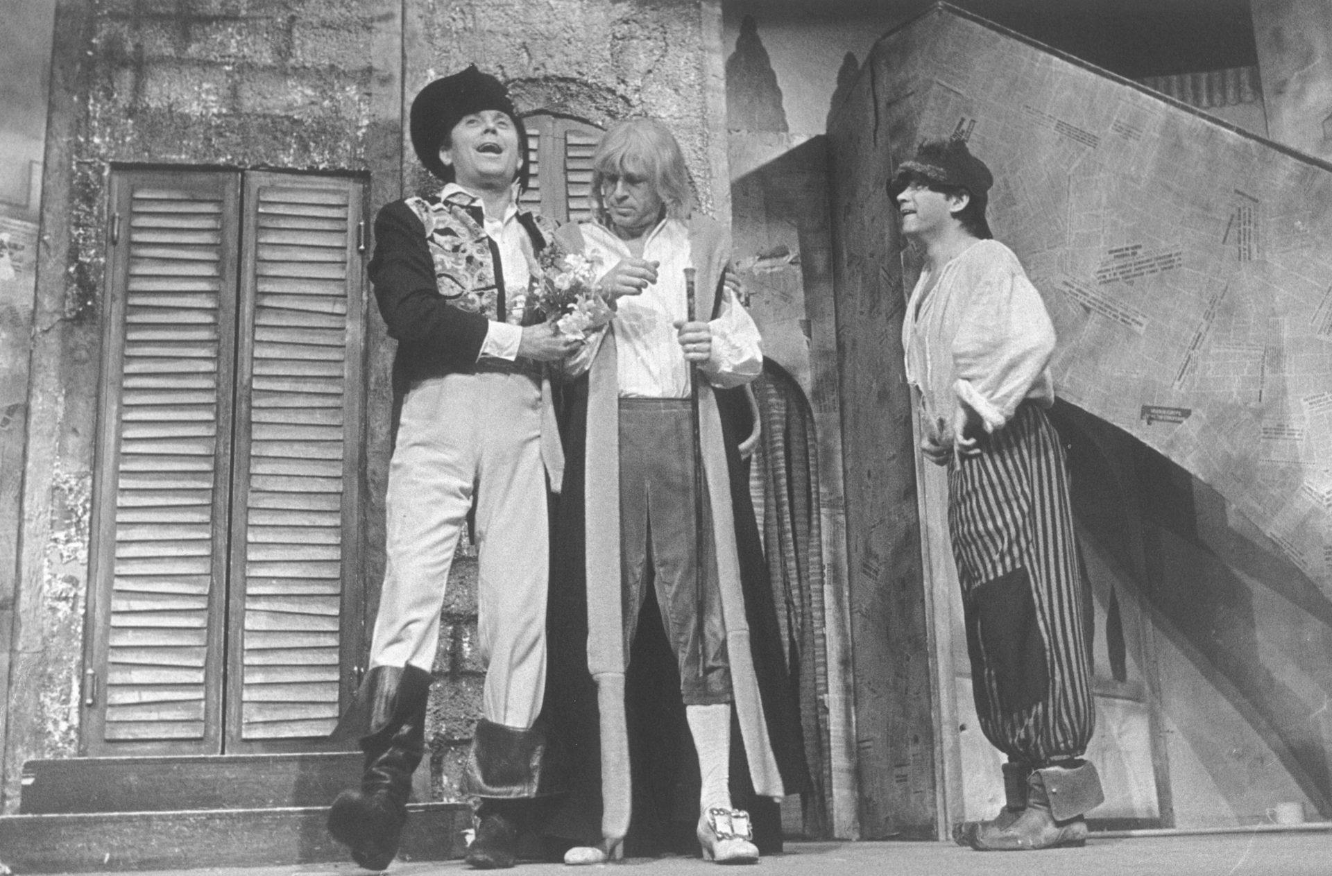 6_Tri_v_tom. J. Vostrý: Tři vtom (režie J. Menzel, 1978; Josef Abrhám, Jiří Kodet, Rudolf Hrušínský ml.) Foto Miroslav Pokorný