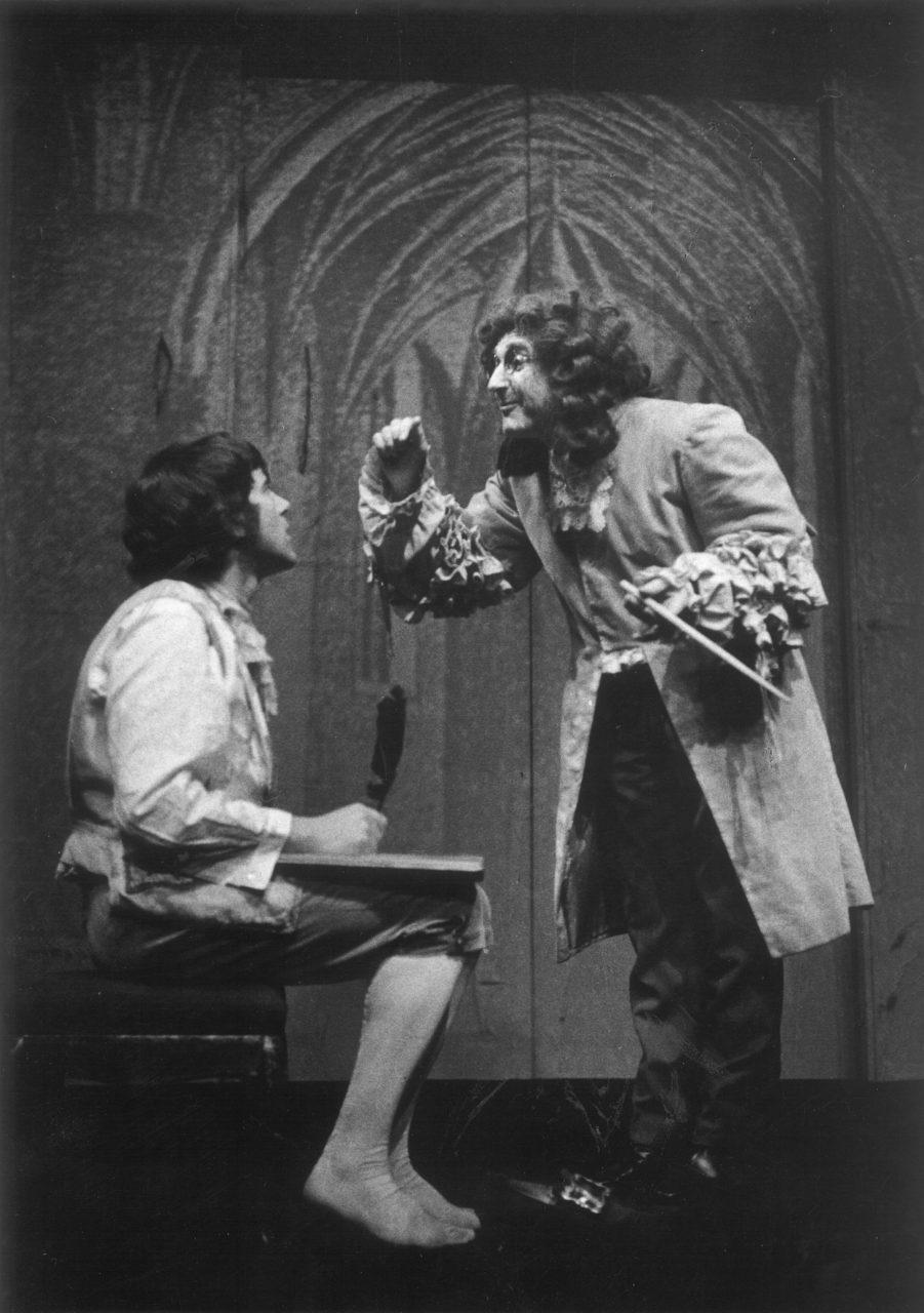 6_Candide. Panglos Voltaire: Candide (režie Jaroslav Vostrý, 1971; sJiřím Hrzánem) Foto Miloň Novotný